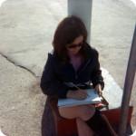Vicki sketching
