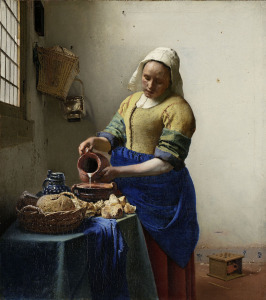 The Milkmaid Johannes Vermeer c. 1660 oil on canvas Rijksmuseum, Purchased with the support of the Vereniging Rembrandt